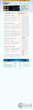 Блоговый PSD шаблон