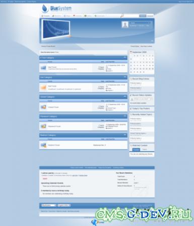 Скин Blue System для IPB 3.0.x