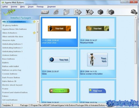 Agama Web Buttons 2.68 Portable Full Rus