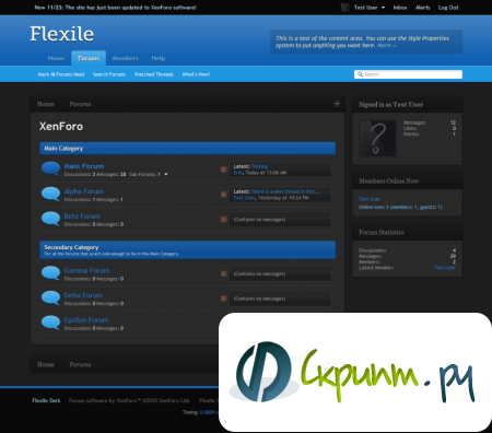 Flexile Dark XF 1.0.2