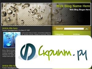 оливковый Шаблон для WordPress