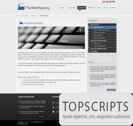 PSD шаблон WebFactory