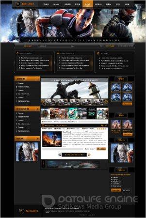 PSD макет игрового портала