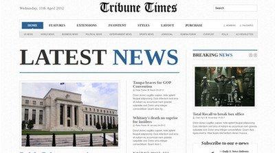 Joomla шаблон Tribune Times — JXTC