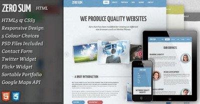 HTML/CSS шаблон Zero Sum — ThemeForest