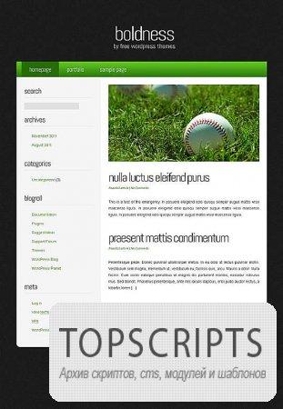 Шаблон boldness для WordPress