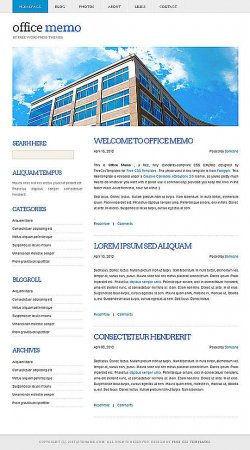 Шаблон Office Memo для WordPress