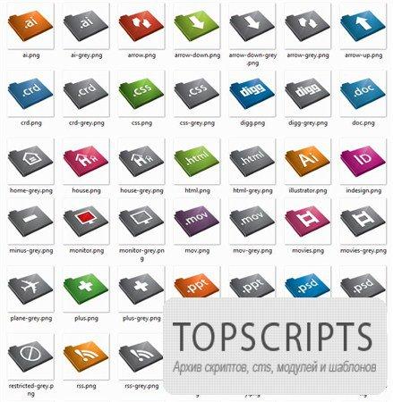 Коллекция иконок для Windows 7 PNG формата
