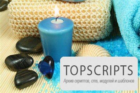 Фотосток ароматических свечей и круглых камней для косметических салонов