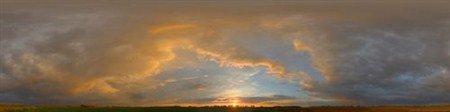 Панорамы солнца над горизонтом в удивительных фото