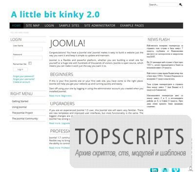 Шаблон A Little Bit Kinky V2 для Joomla 2.5