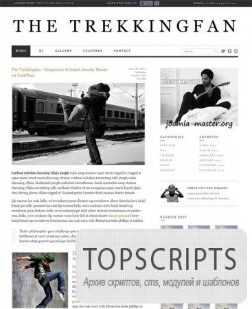 Новостной шаблон TZ The Trekkingfan для Joomla