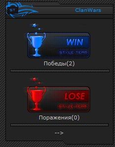 ClanWars - статистика CW для ucoz, победы - Поражения