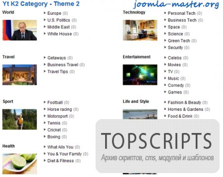 Модуль Yt K2 Category для Joomla