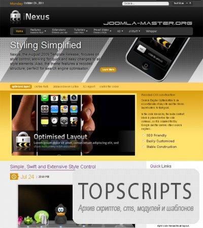 Шаблон RT Nexus для Joomla