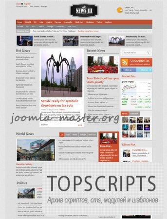 Шаблон JS Shaper News III для Joomla