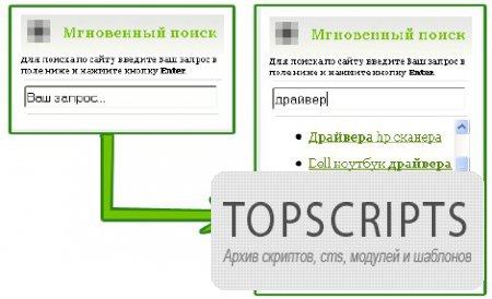 Быстрый и удобный поиск v1.0 для Ucoz