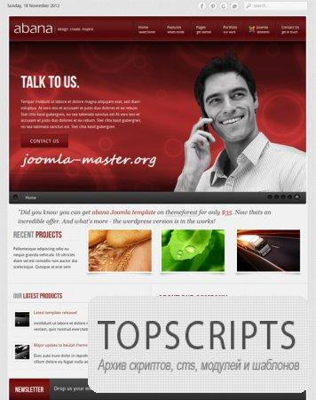 Шаблон TF Abana для Joomla