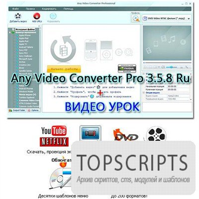 Any Video Converter Pro 3.5.8 Ru + Видеоурок