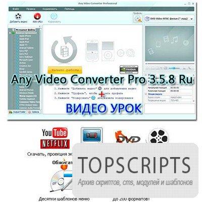 Any Video Converter Pro 3.5.8 Ru + Видеоурок