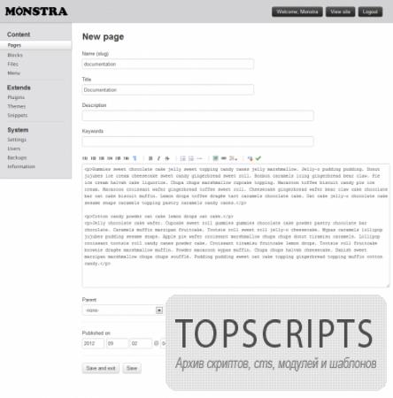 Monstra CMS 2.2.1