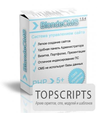 BlondeCMS 1.5.4 Free