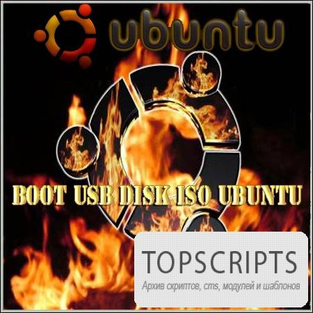 Boot USB disk ISO Ubuntu