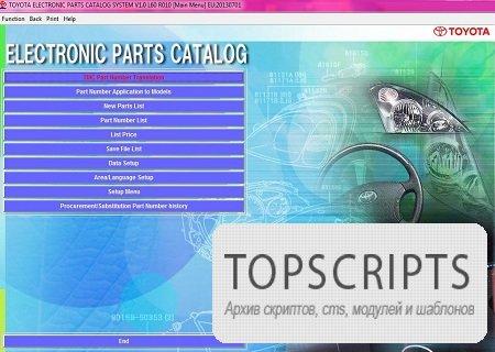 TOYOTA EPC ( L60 R010, Multi, 2013 )